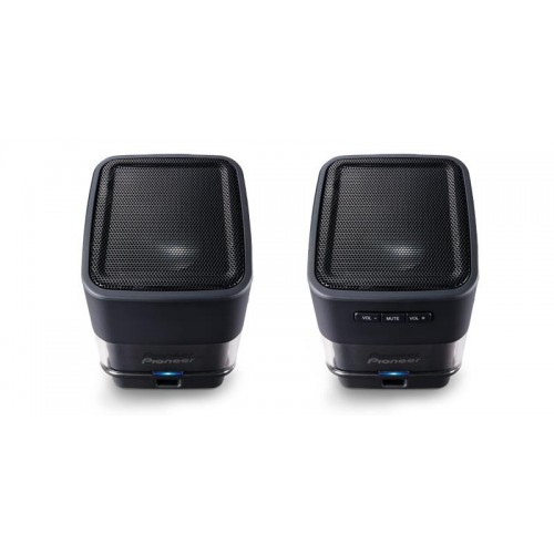 S-MM201-K PAREJA MINI ALTAVOCES AMPL.USB PIONEER NEGRO