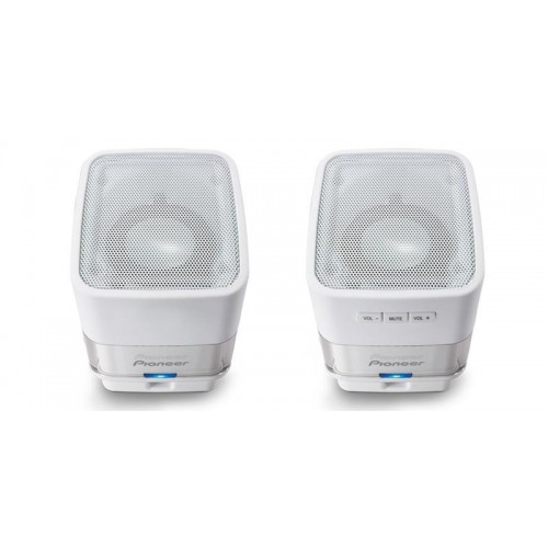 S-MM201-W PAREJA MINI ALTAVOCES AMPL.USB PIONEER BLANCO