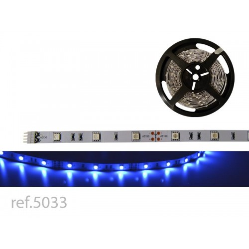 BOBINA LED FLEX 5m 30 LED/m 12V IP-20 AZUL