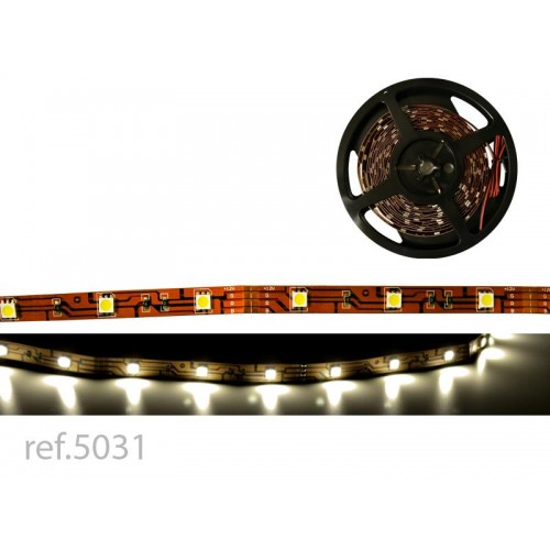 BOBINA LED FLEX 5m 30 LED/m 12V IP-20 B.CALIDO
