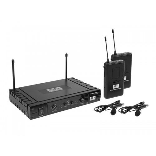 DOBLE MICROFONO SOLAPA INALAMBRICO. UHF 2 C QP-AUDIO