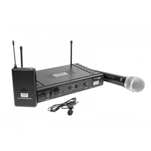 SET MICROFONO SOLAPA + MANO INANBRICOL. UHF 2C QP-AUDIO