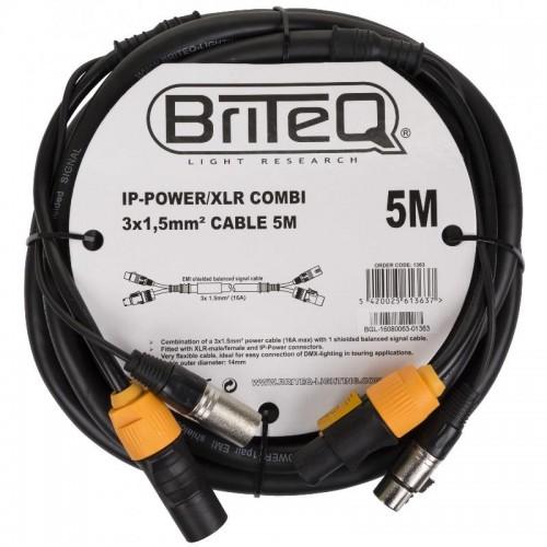CABLE COMBI IP-POWER/XLR 3x 1.5mm² 5m BRITEQ