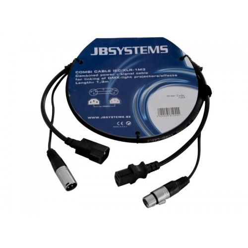 COMBI CABLE IEC H / IEC M / XLR-M / XLR/ H 1m